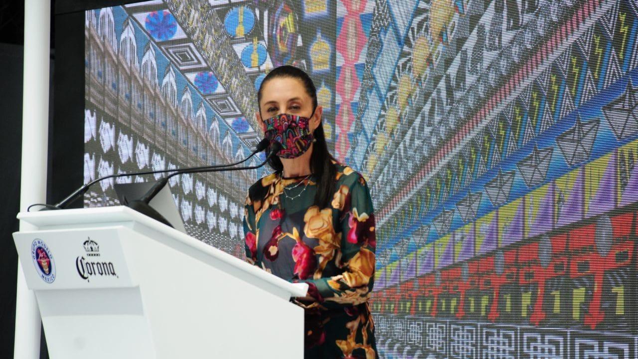 """Claudia Sheinbaum, jefa de gobierno de la CDMX, asistió a la inauguración de """"El Mural Más Fino"""" (Cuartoscuro)"""