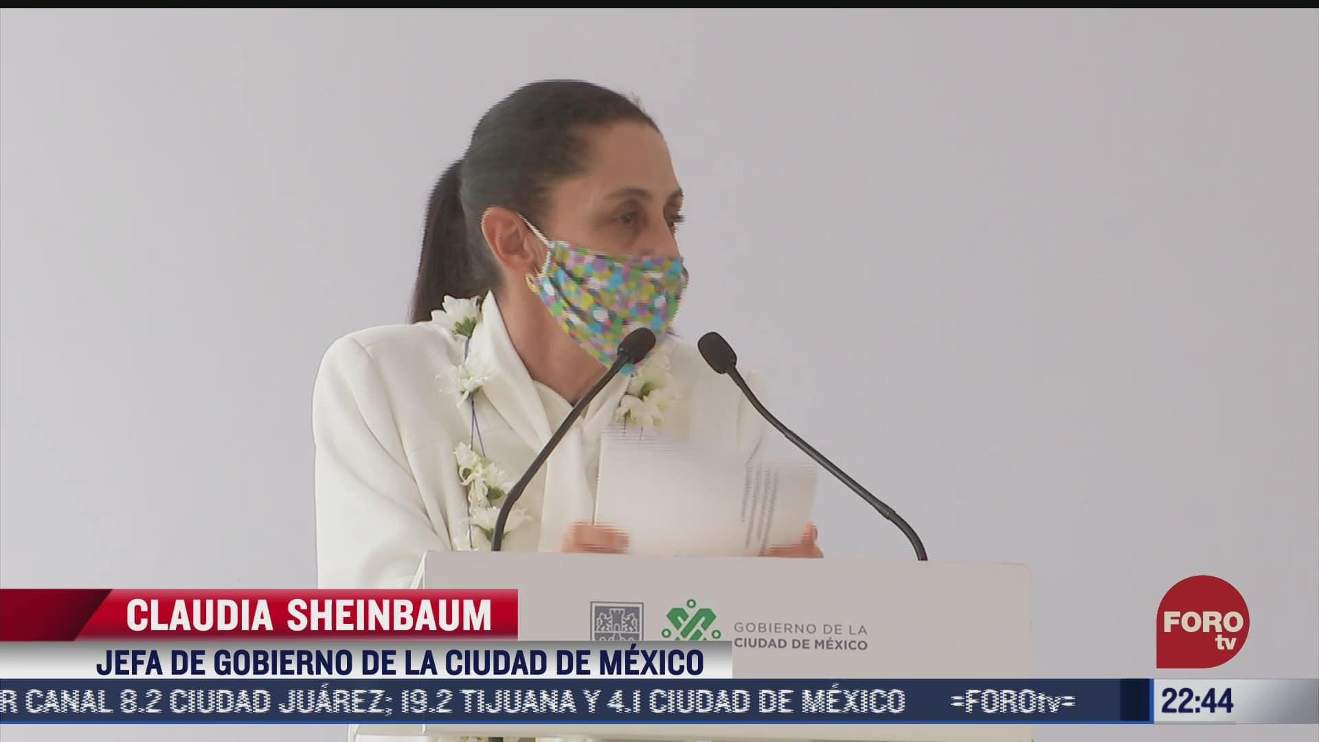 sheinbaum inaugura renovacion de avenida chapultepec