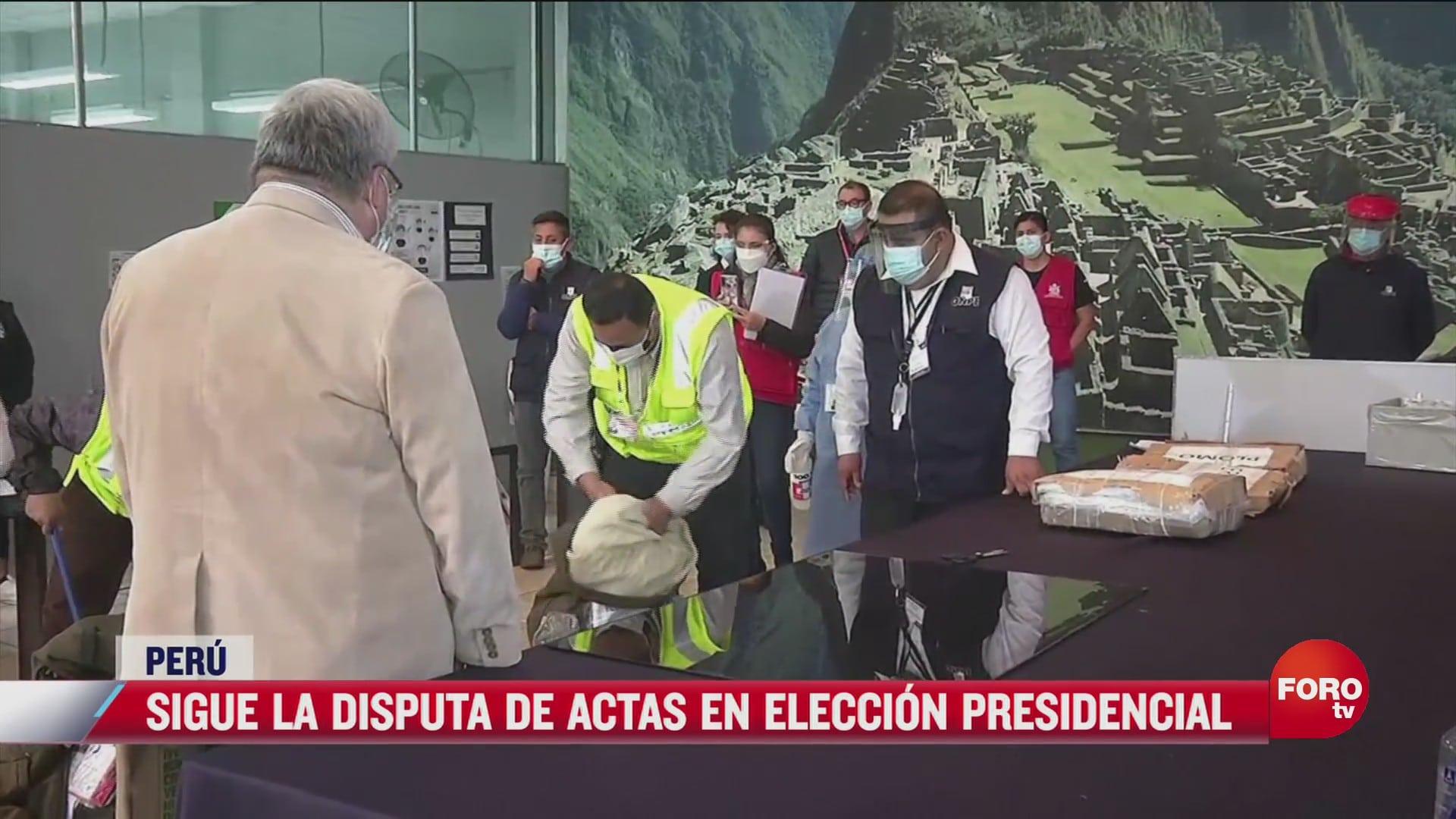 sigue la disputa de actas en eleccion presidencial de peru