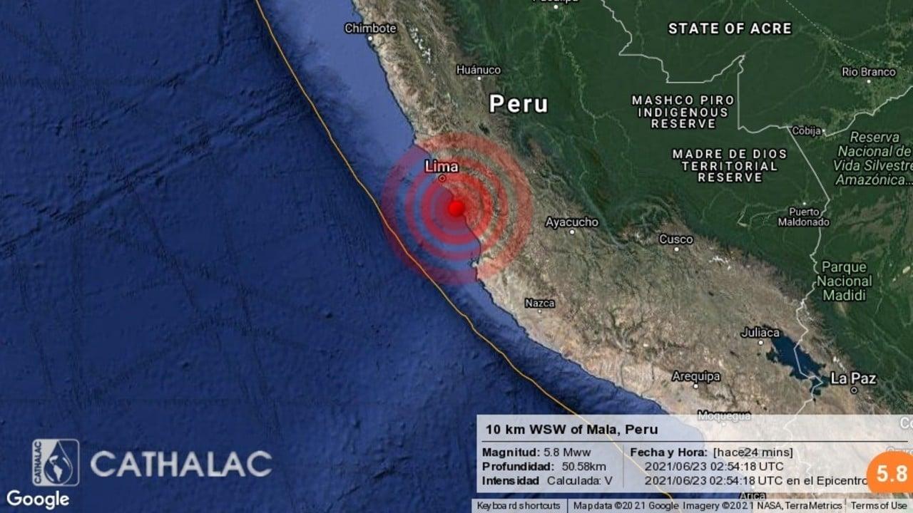 Sismo de magnitud 6 sacude Lima, Perú