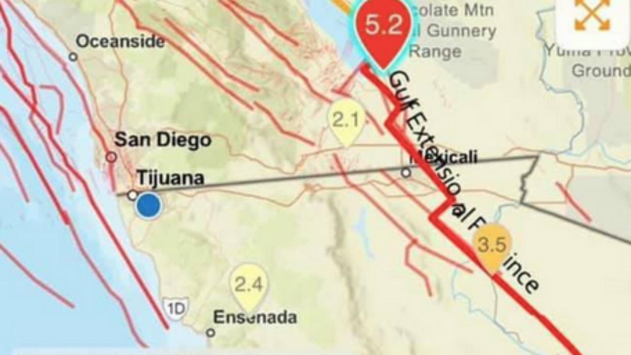 Sismo de magnitud 5.2 se registra en Mexicali, Baja California