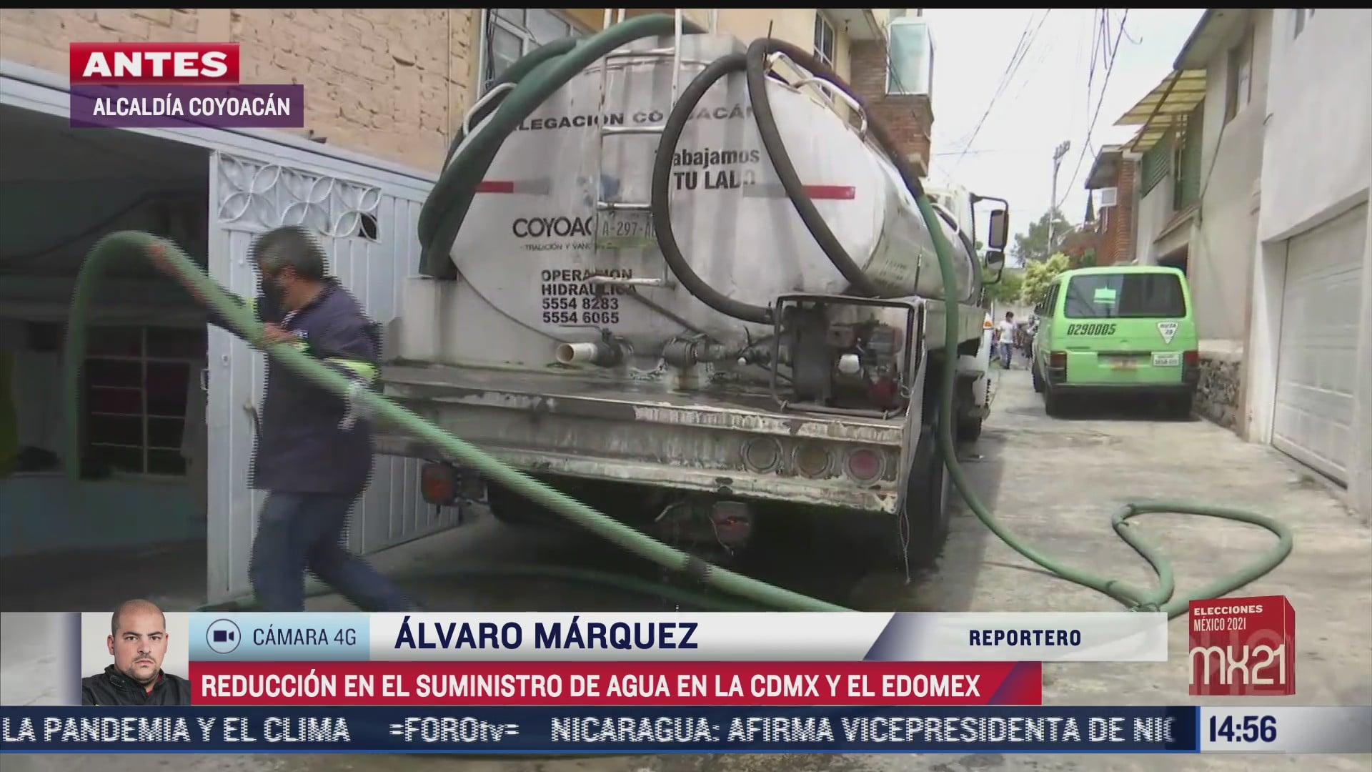 solicitan pipas de agua ante reduccion de suministro en cdmx y edomex
