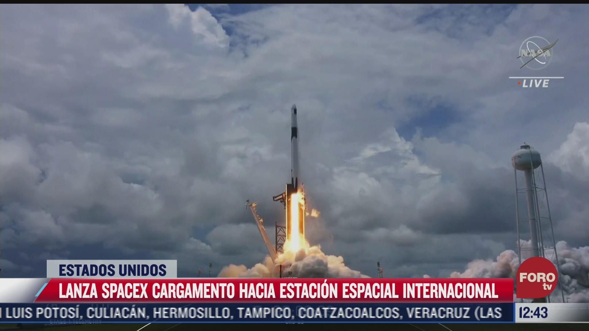 spacex lanza cargamento a la eei