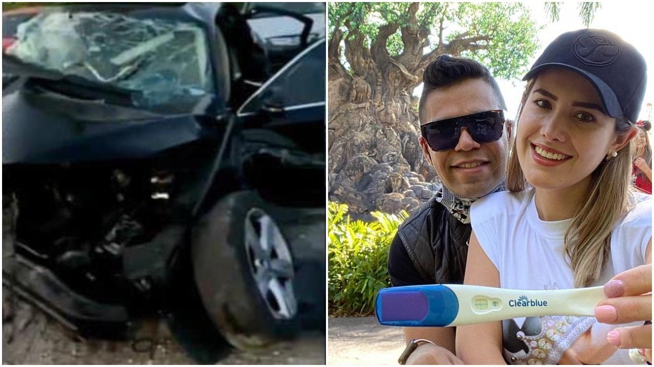 Stefanía de Aranda en terapia intensiva tras accidente de carro; está embarazada y es esposa de Emir Pabón