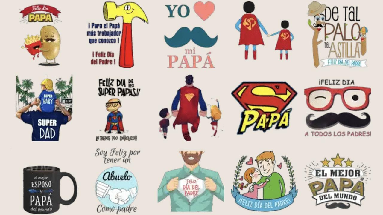 Stickers WhatsApp Día Padre Imagen