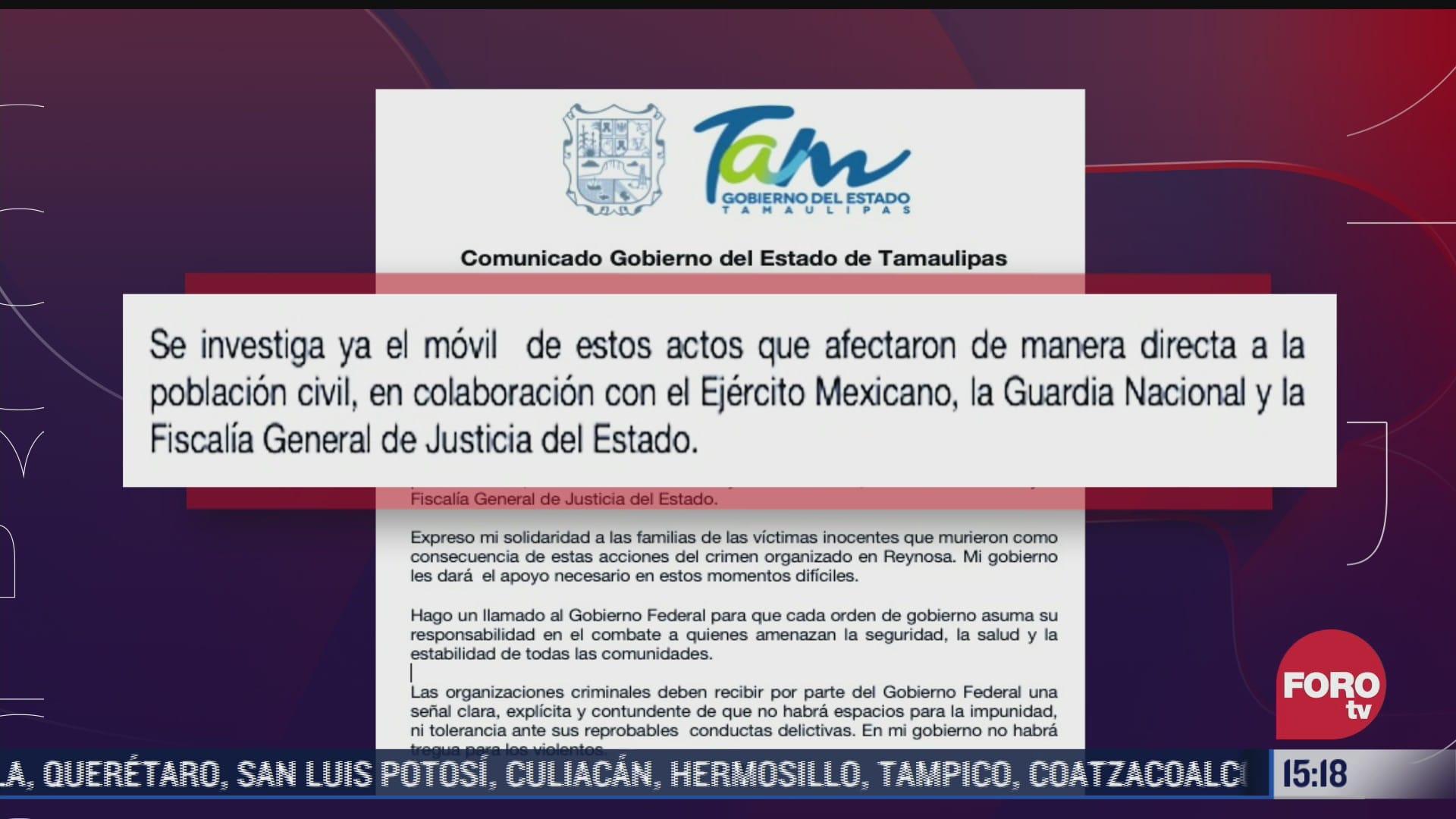suman 18 muertos en distintos hechos violentos en tamaulipas