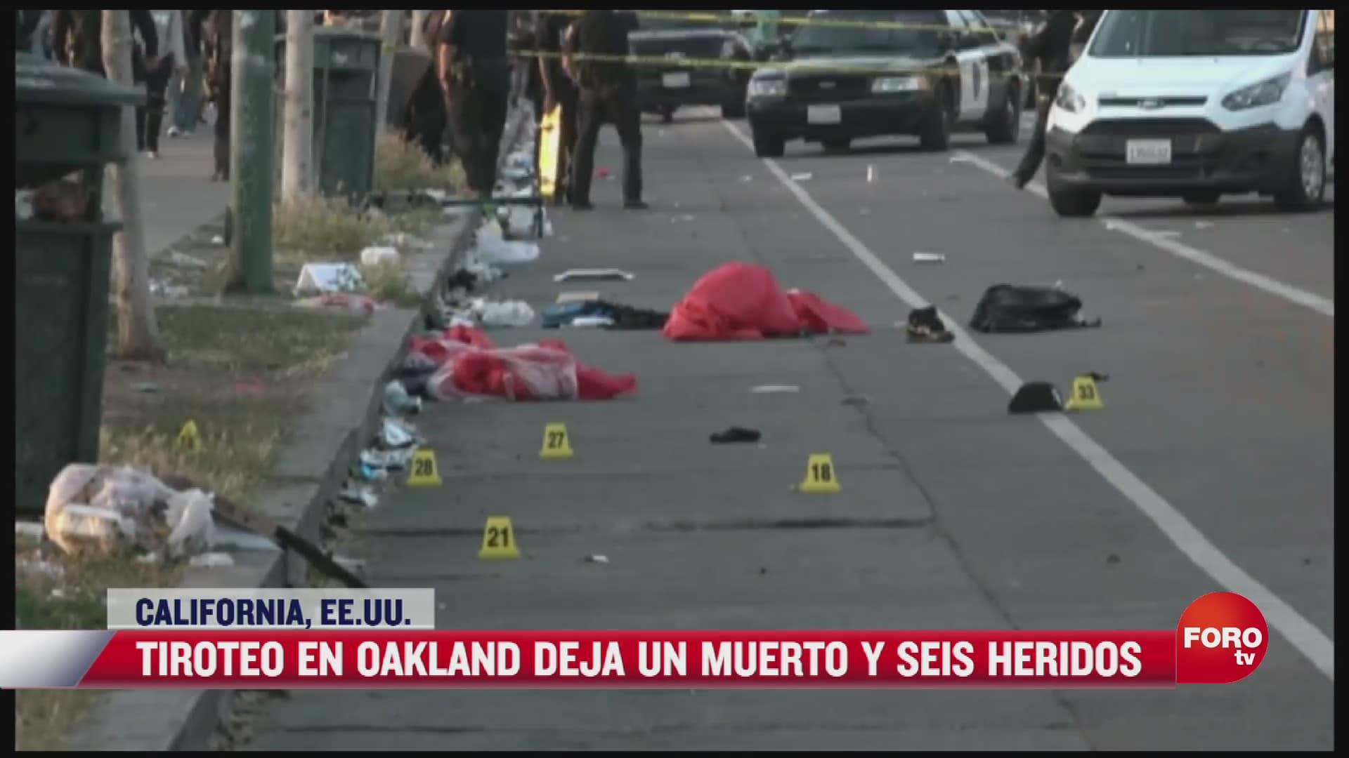 tiroteo en oakland california deja un muerto y seis heridos