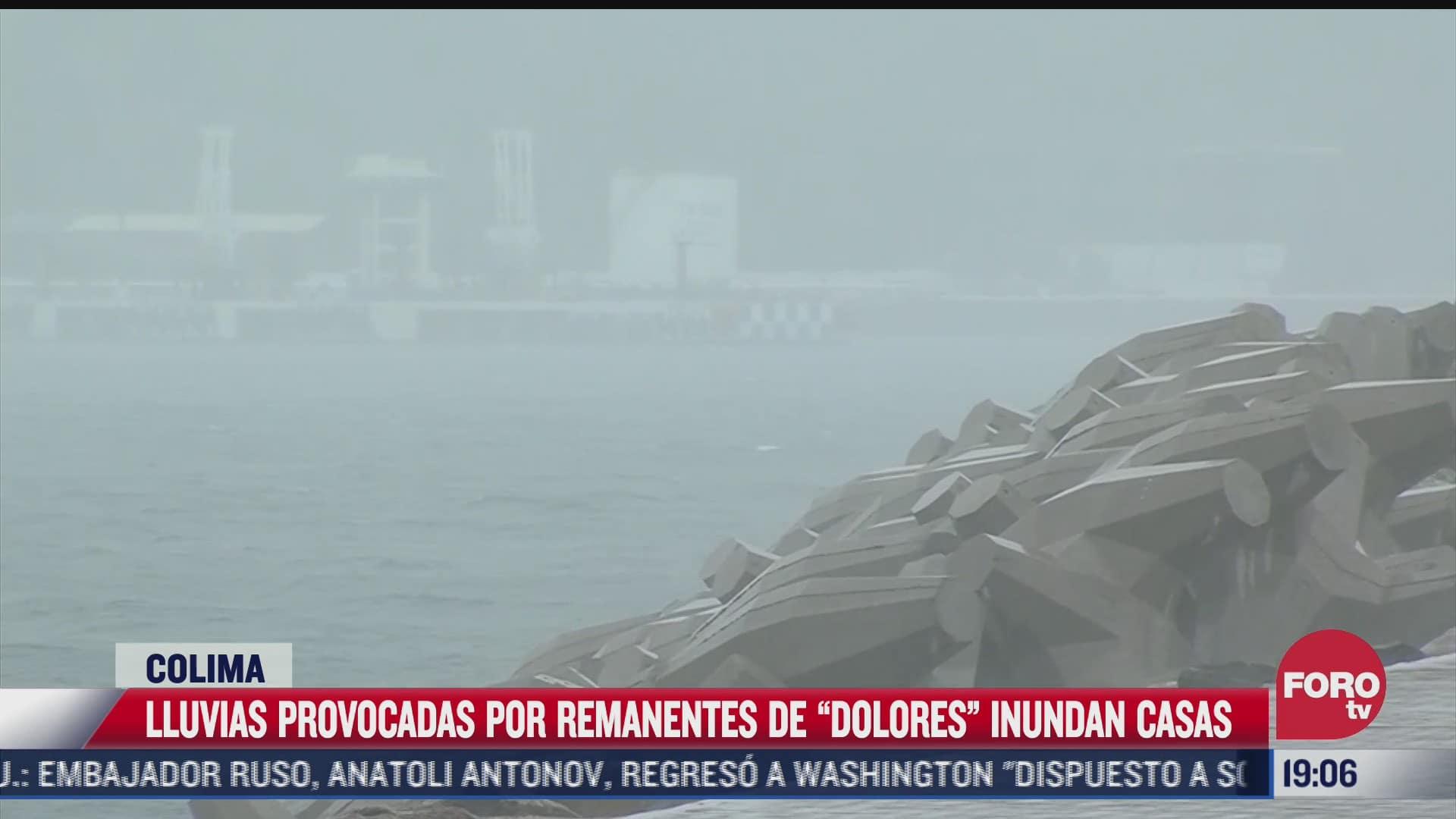 tormenta tropical dolores provoca lluvias intensas en colima