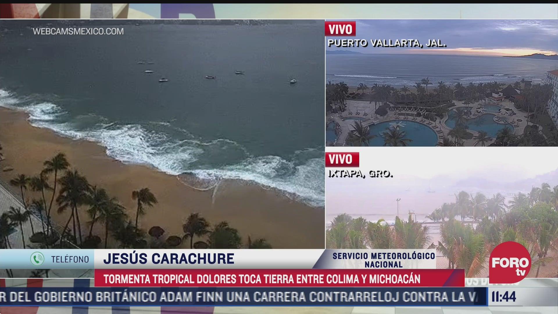 tormenta tropical dolores toco tierras mexicanas a las 1000 horas