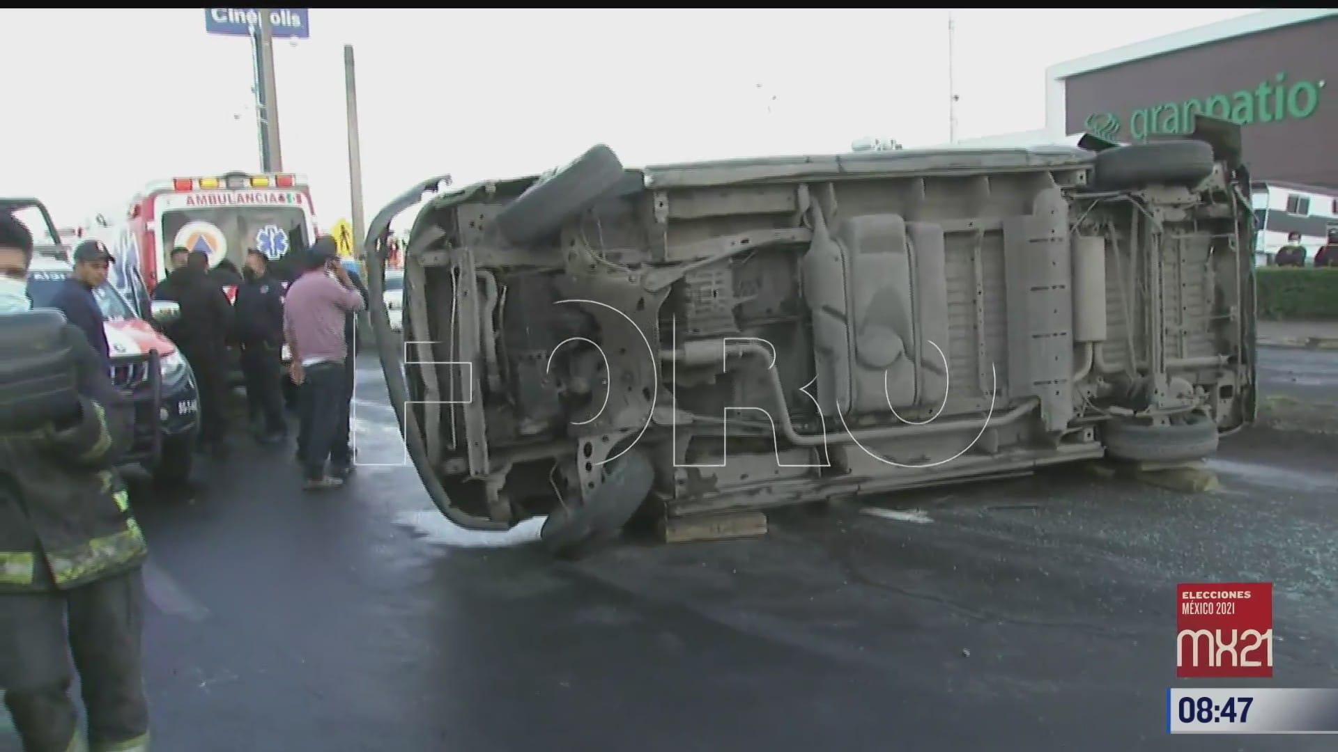 trailer embiste vehiculos en carretera texcoco lecheria hay al menos un muerto