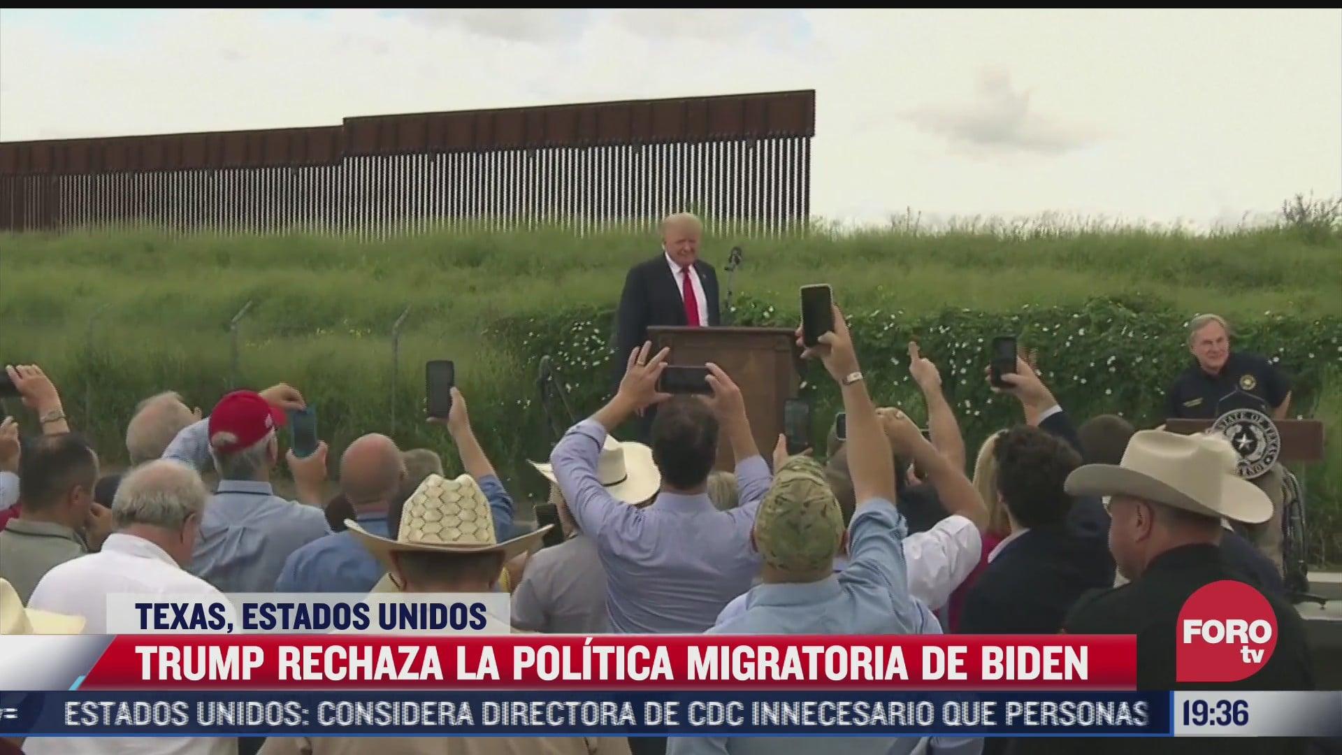 trump y abbott visitan frontera sur de texas por muro