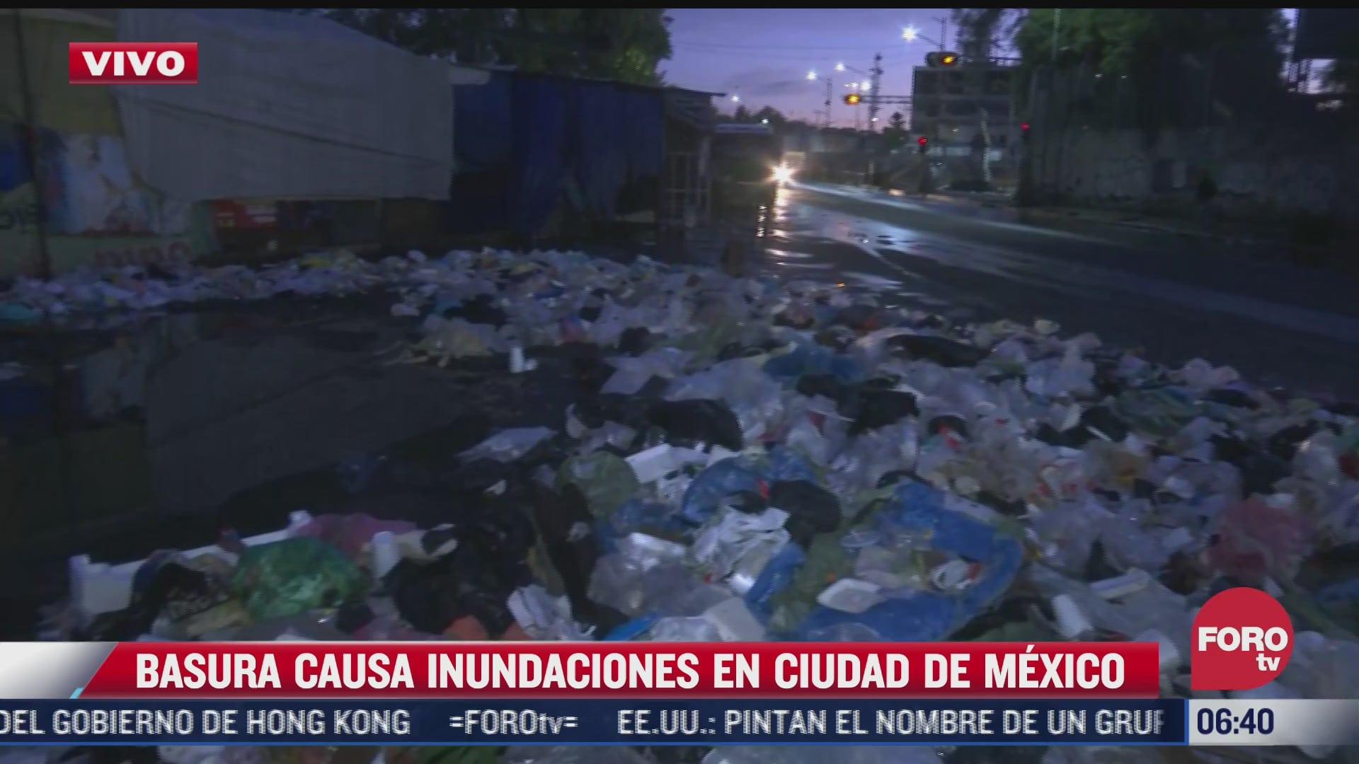 vecinos reportan enorme tiradero de basura en avenida del trabajo cdmx