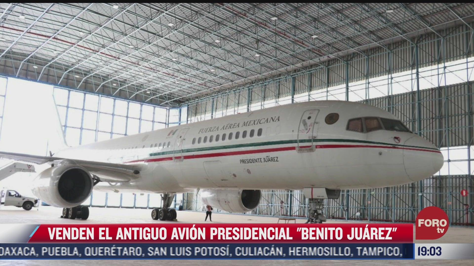 venden antiguo avion presidencial benito juarez