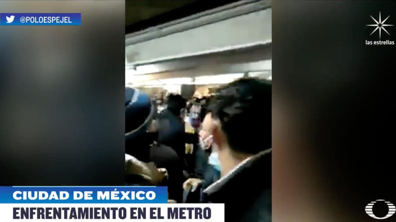 Video: Pelea campal en Metro Pantitlán de CDMX