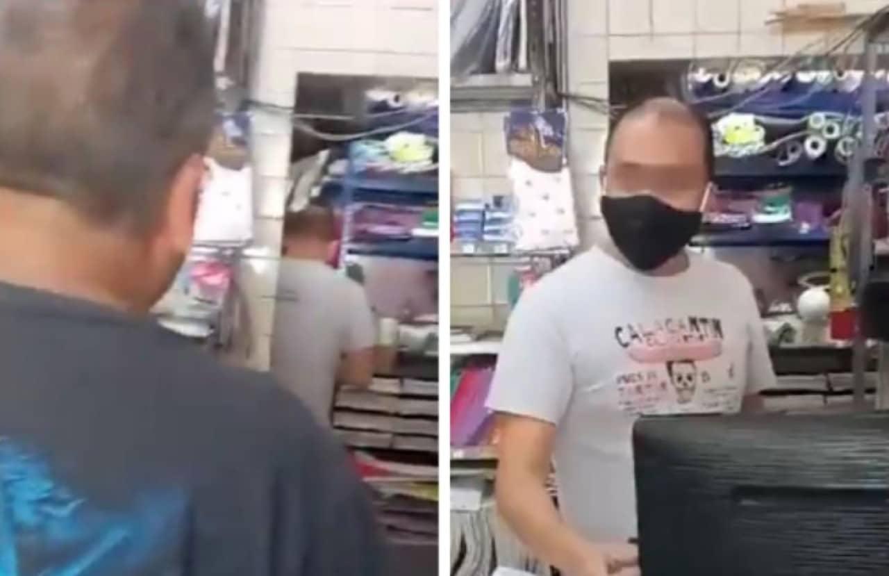 Papá golpea a sujeto que acosó a su hija en una papelería