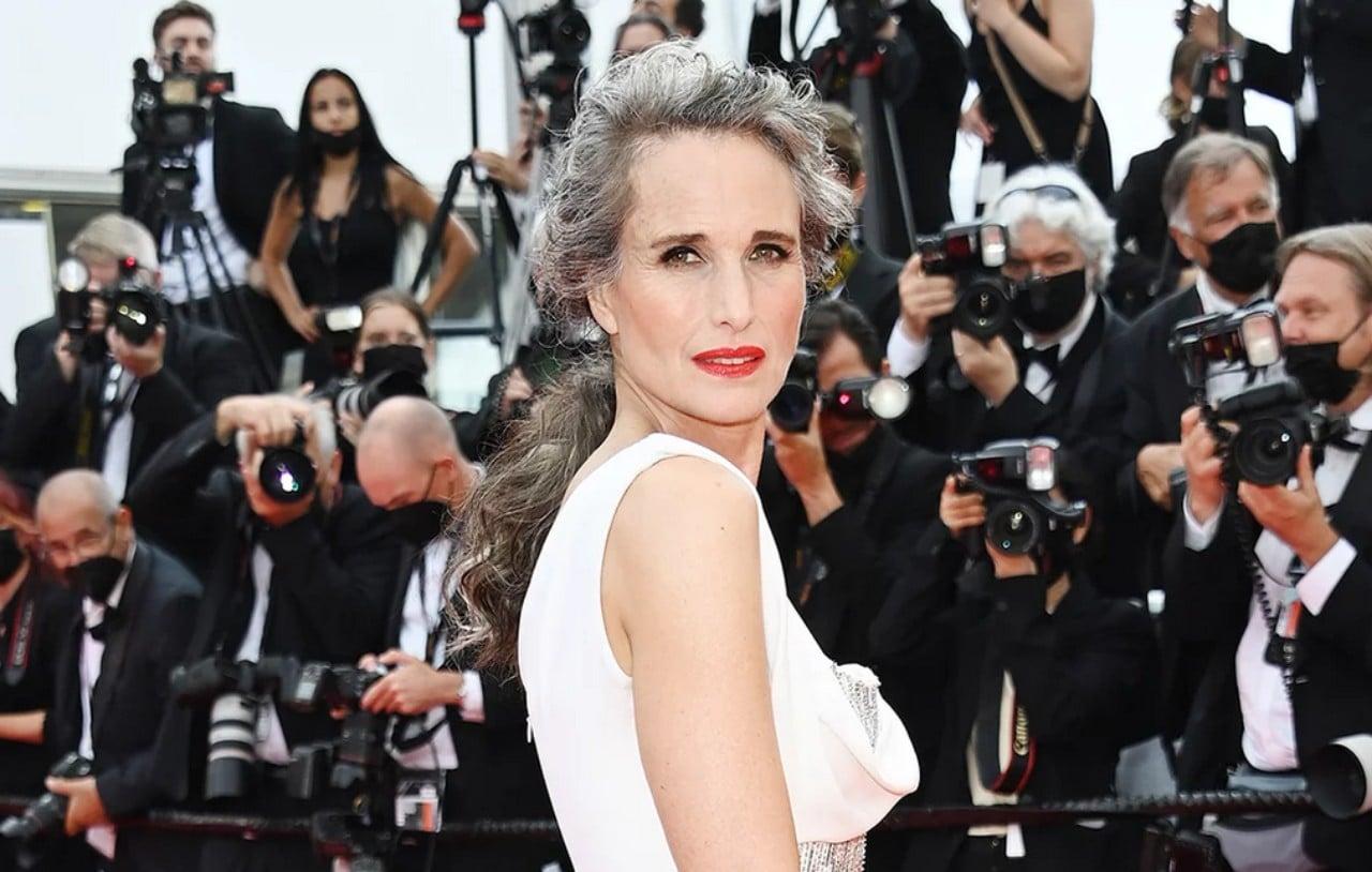Andie MacDowell habla de las canas que presentó en Cannes
