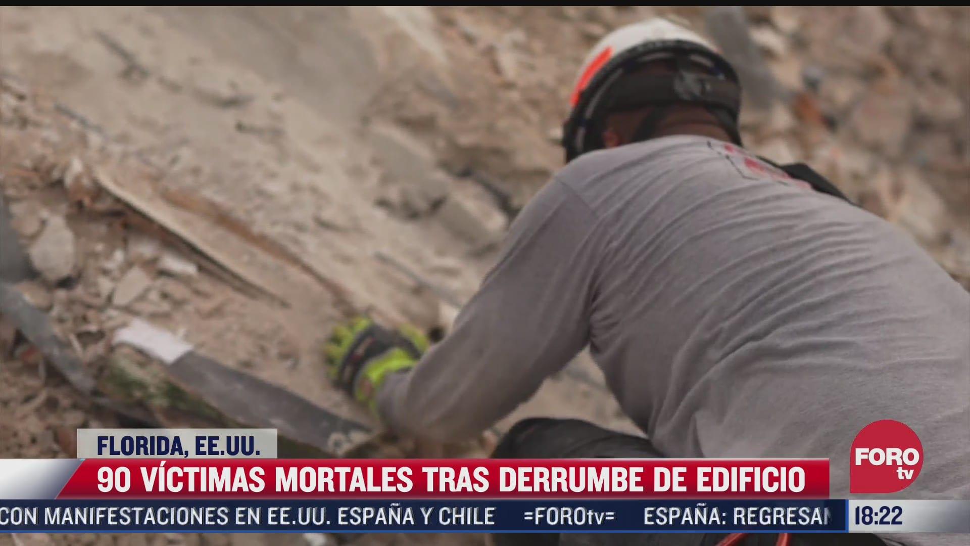 90 victimas mortales tras derrumbe de edificio en florida eeuu