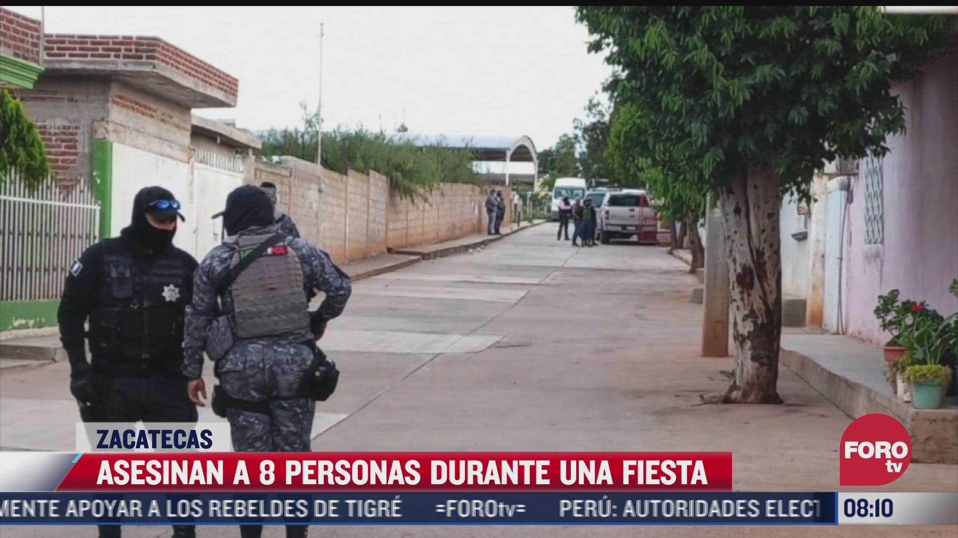 acribillan a ocho personas en una fiesta en la comunidad de gamboa zacatecas