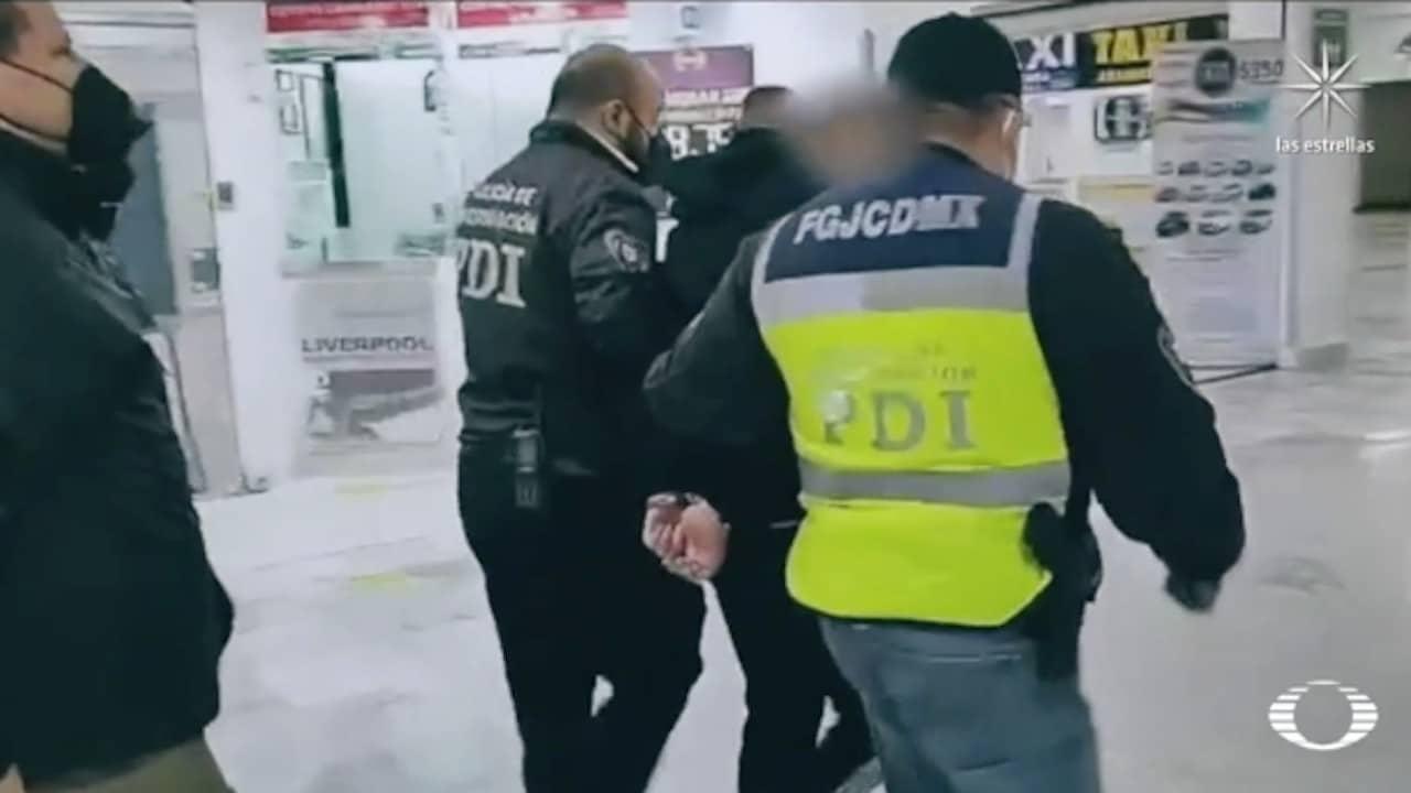 """Axel """"N"""", durante su detención (Noticieros Televisa)"""