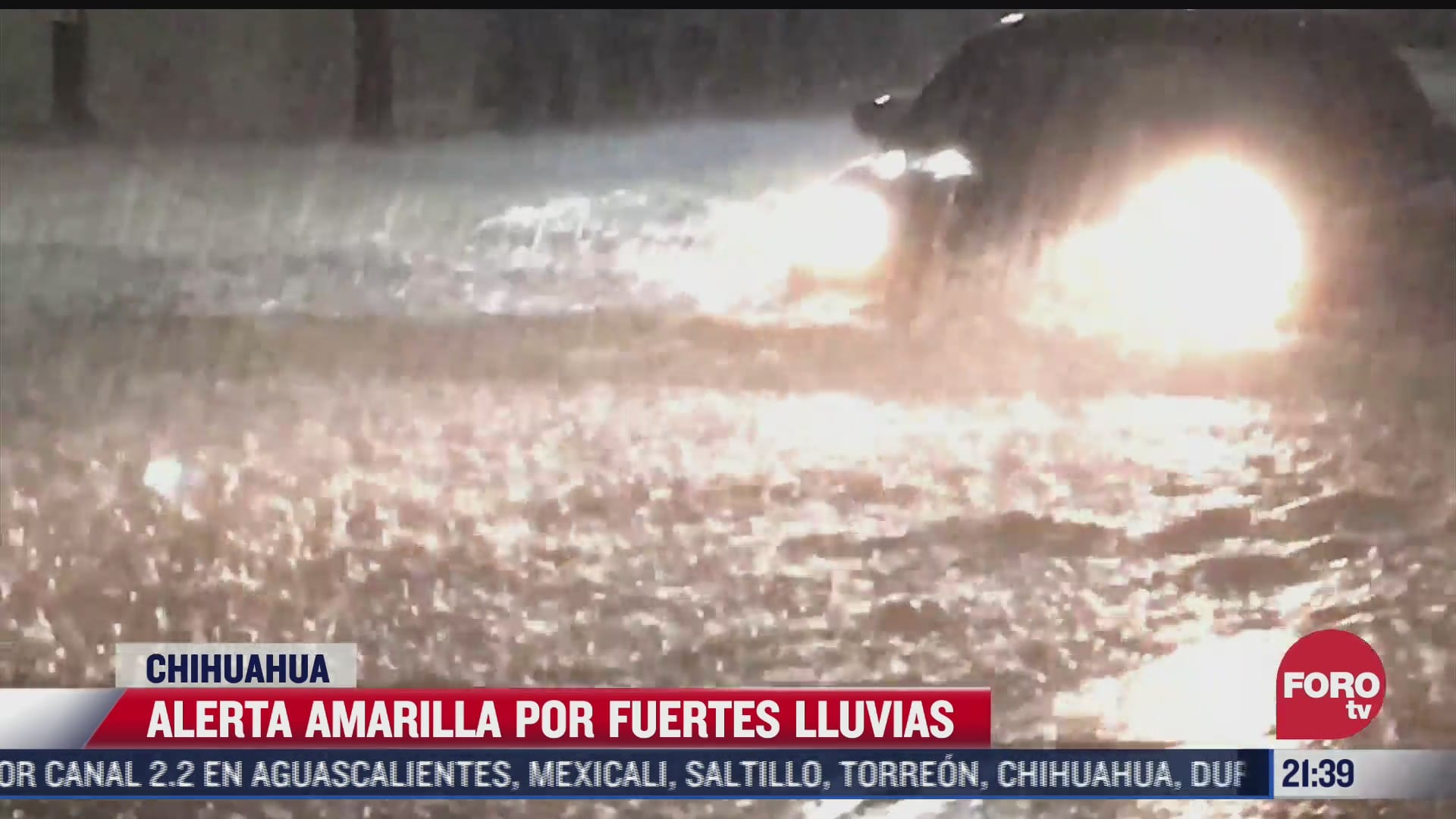 alerta amarilla por fuertes lluvias en chihuahua