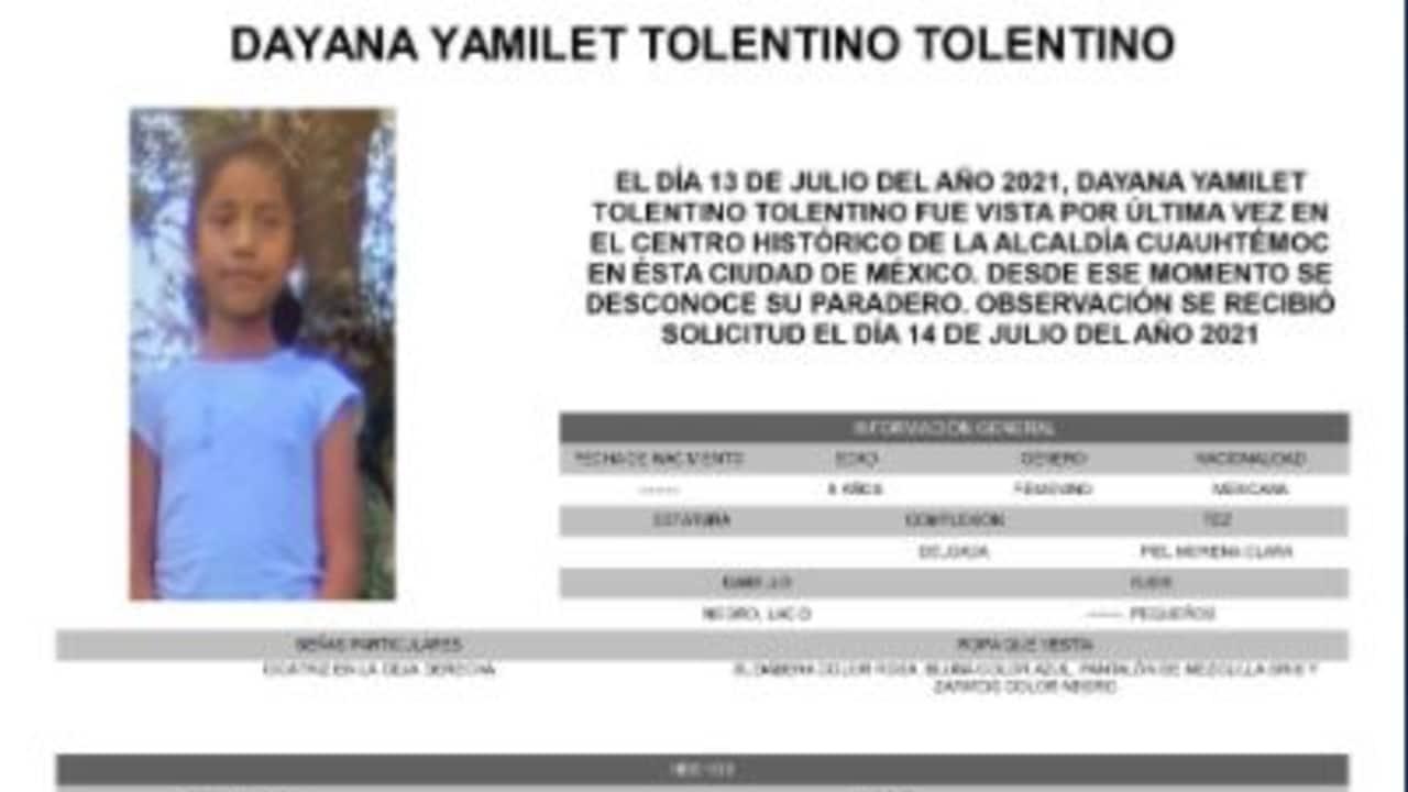 Activan Alerta Amber para localizar a Dayana Yamilet Tolentino Tolentino