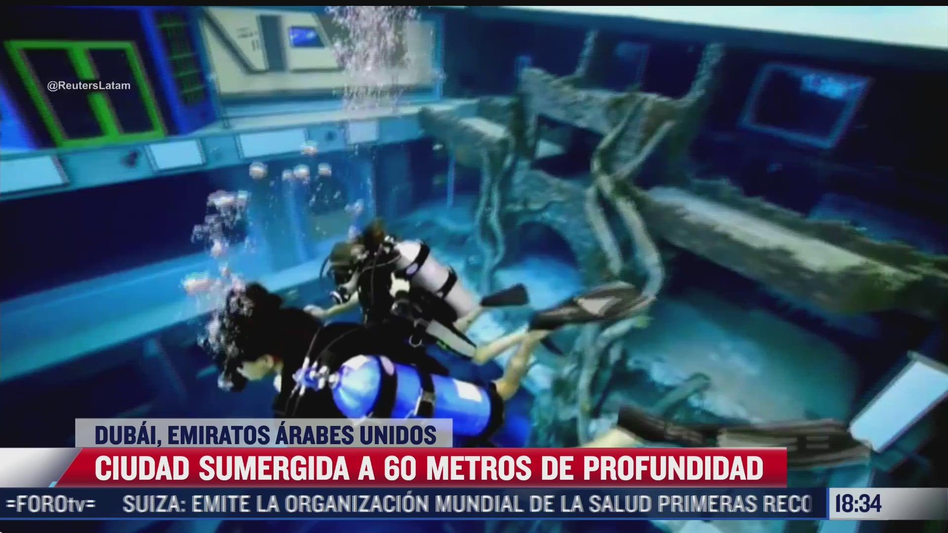 amantes del buceo podran explorar una ciudad sumergida en la piscina mas profunda del mundo