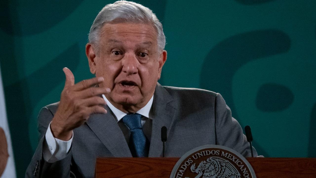 El presidente Andrés Manuel López Obrador en la conferencia de prensa matutina