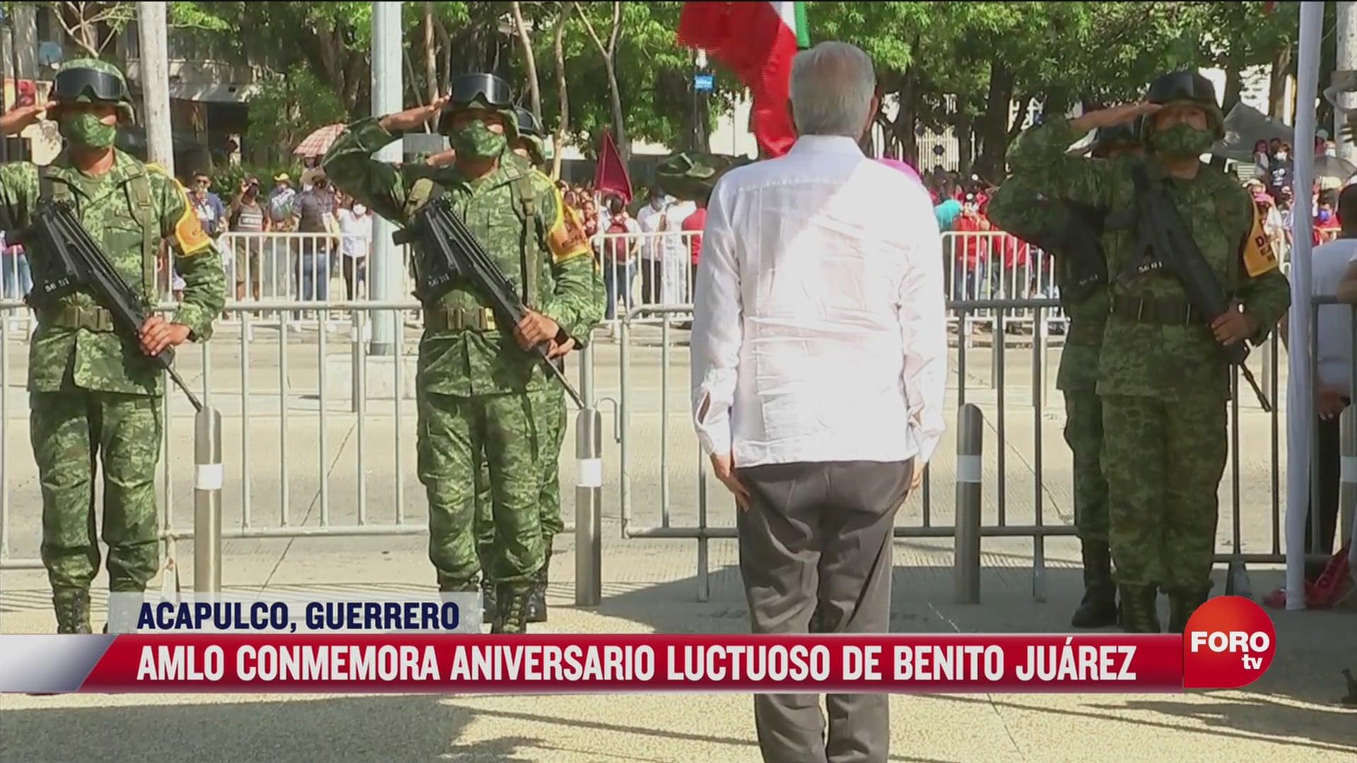amlo conmemora aniversario luctuoso de benito juarez
