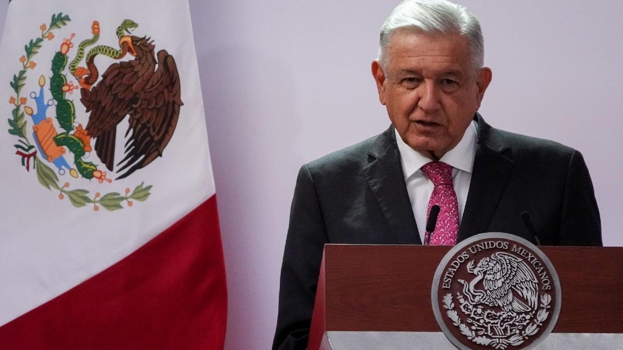 López Obrador durante informe en Palacio Nacional