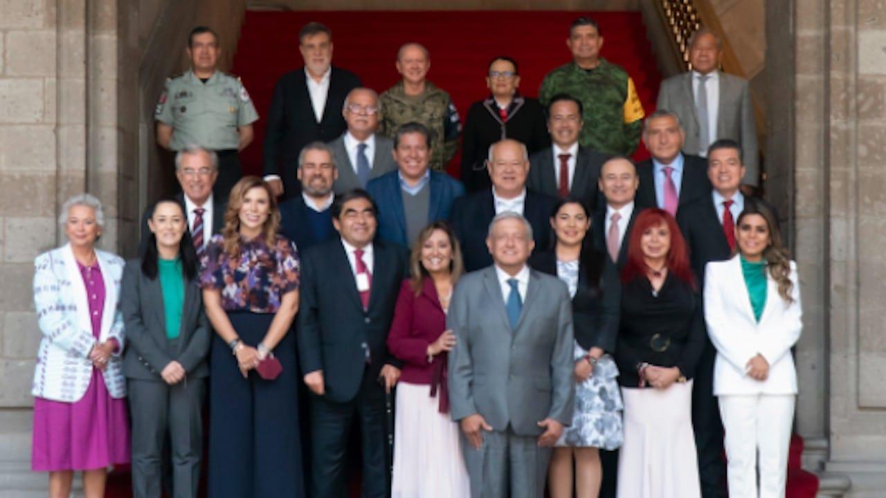 Reunión del presidente de México, Andrés Manuel López Obrador con gobernadores de Morena (Twitter: @lopezobrador_)