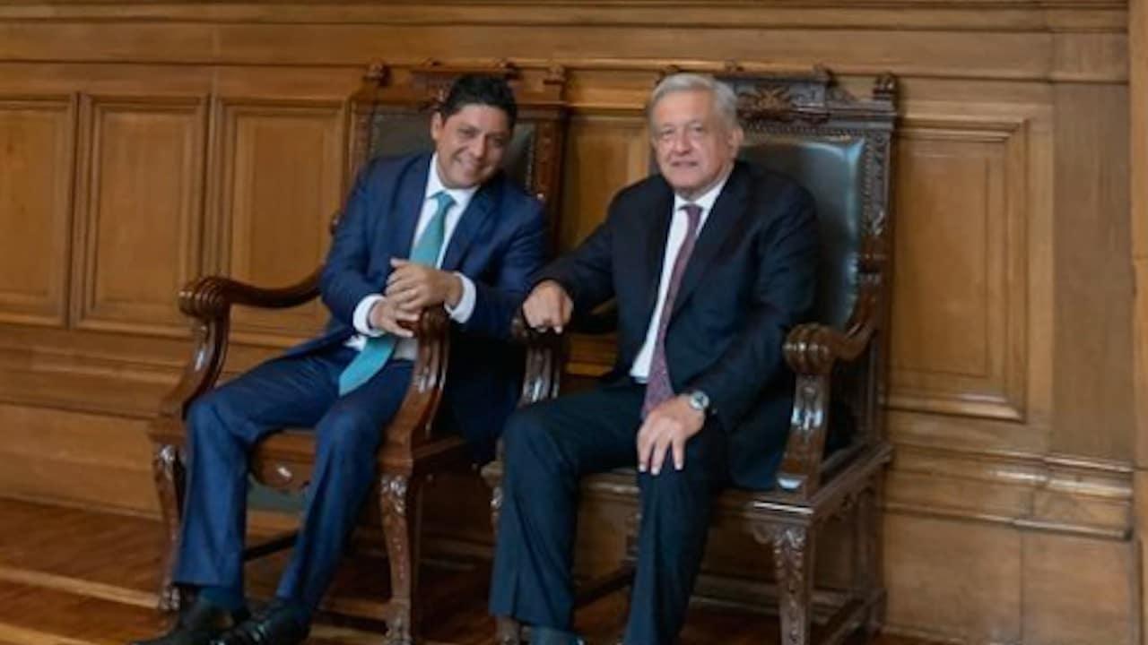 Ricardo Gallardo Cardona, gobernador electo de San Luis Potosí y el presidente de México, Andrés Manuel López Obrador (Twitter: @lopezobrador_)