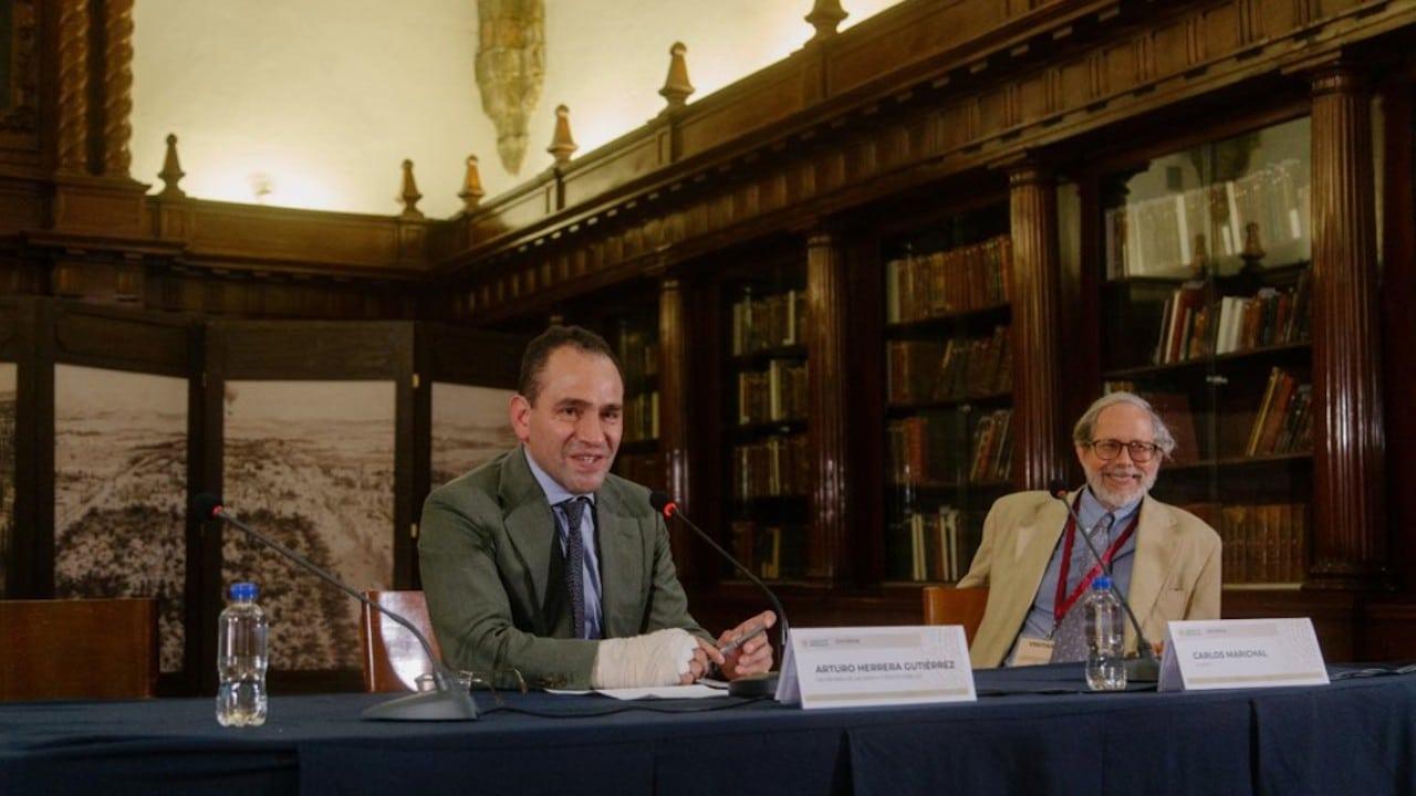 Arturo Herrera, secretario de Hacienda, durante la clausura del coloquio de historia económica para conmemorar 200 años de la Secretaría de Hacienda (Twitter: @Hacienda_Mexico)