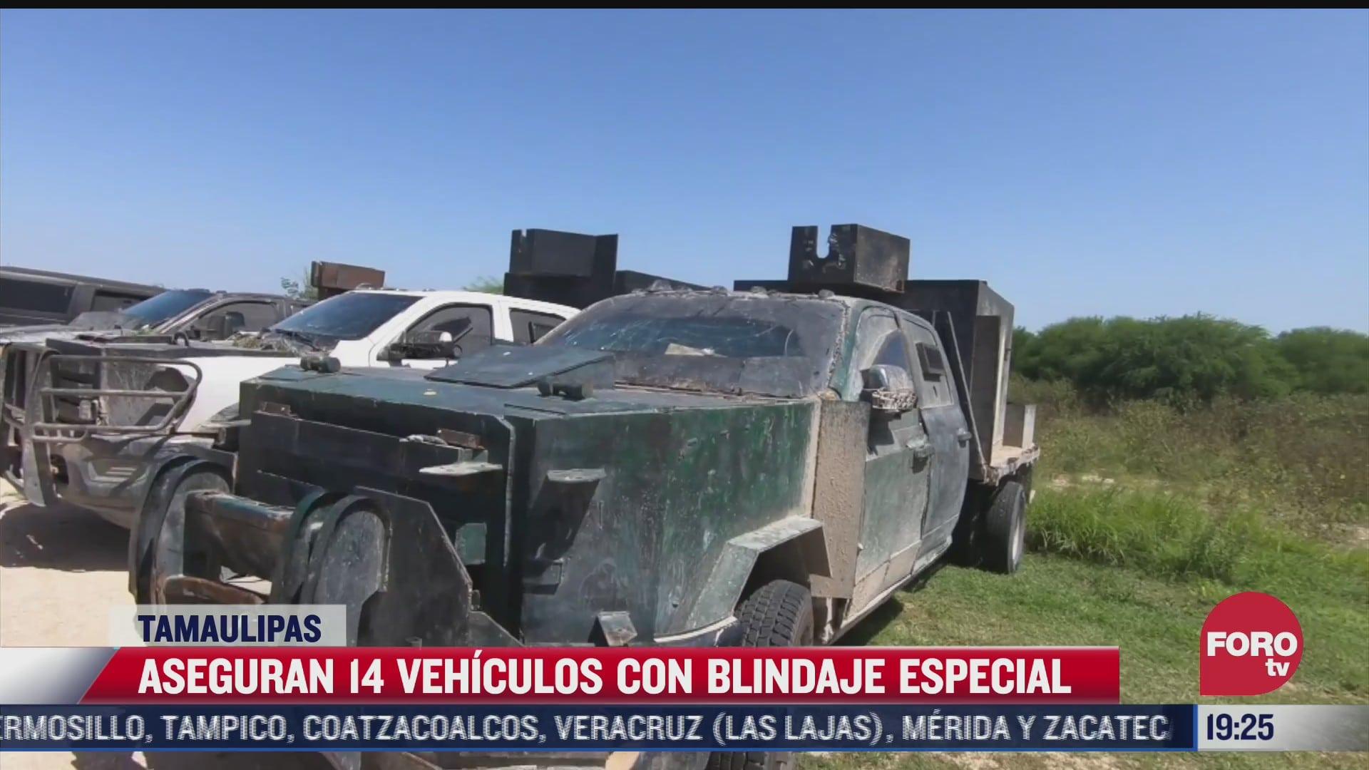 aseguran 14 vehiculos con blindaje artesanal en los ultimos 12 dias