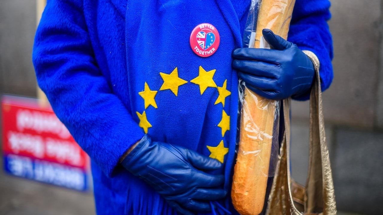 Activistas tras el referéndum de la salida de Reino Unido de la Unión Europea (Getty Images)