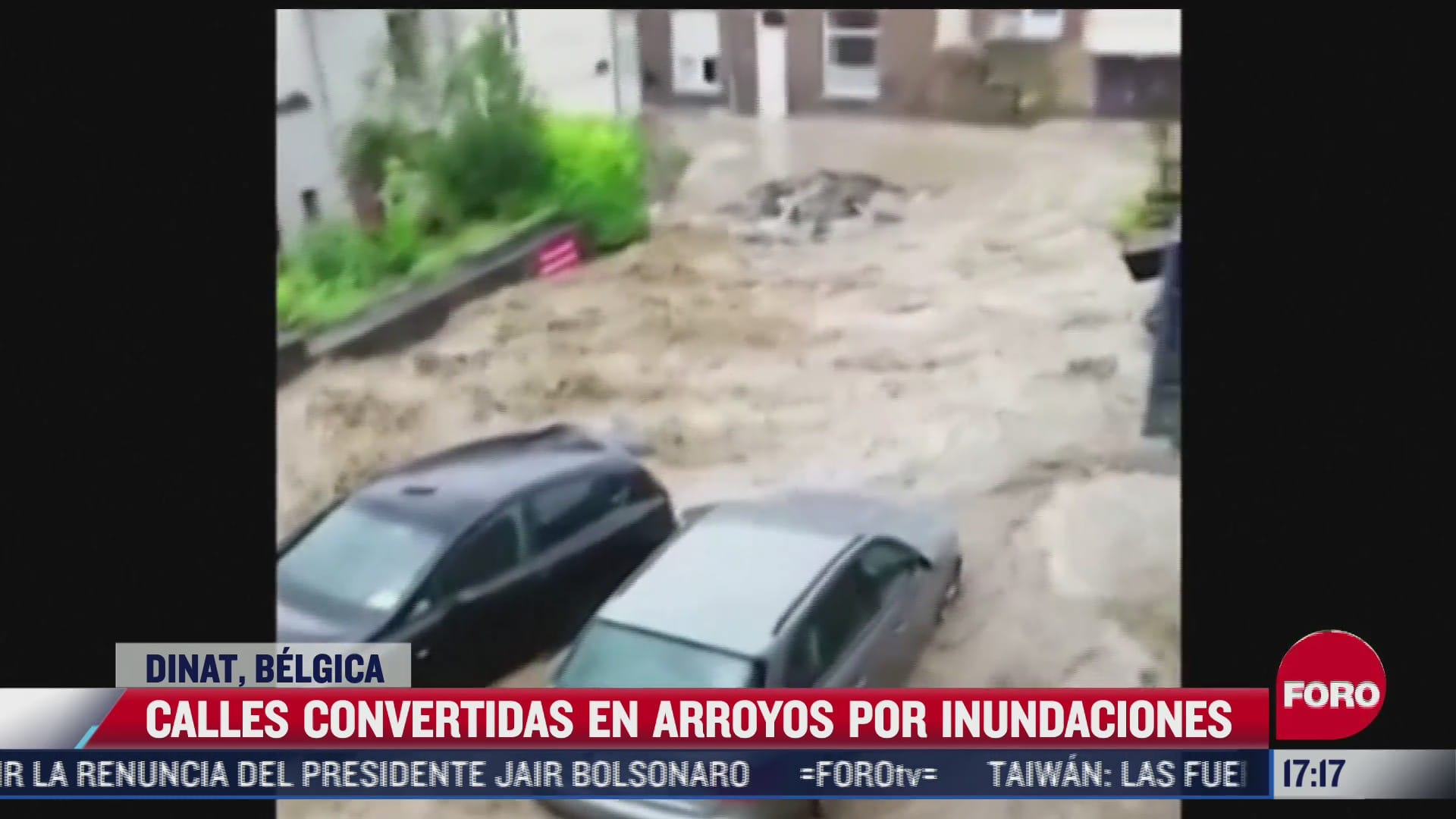 calles se convirtieron en arroyos por las inundaciones en belgica