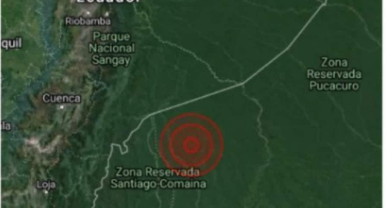 Sismo de magnitud 5.2 se siente en la Amazonía de Perú (@COENPeru)