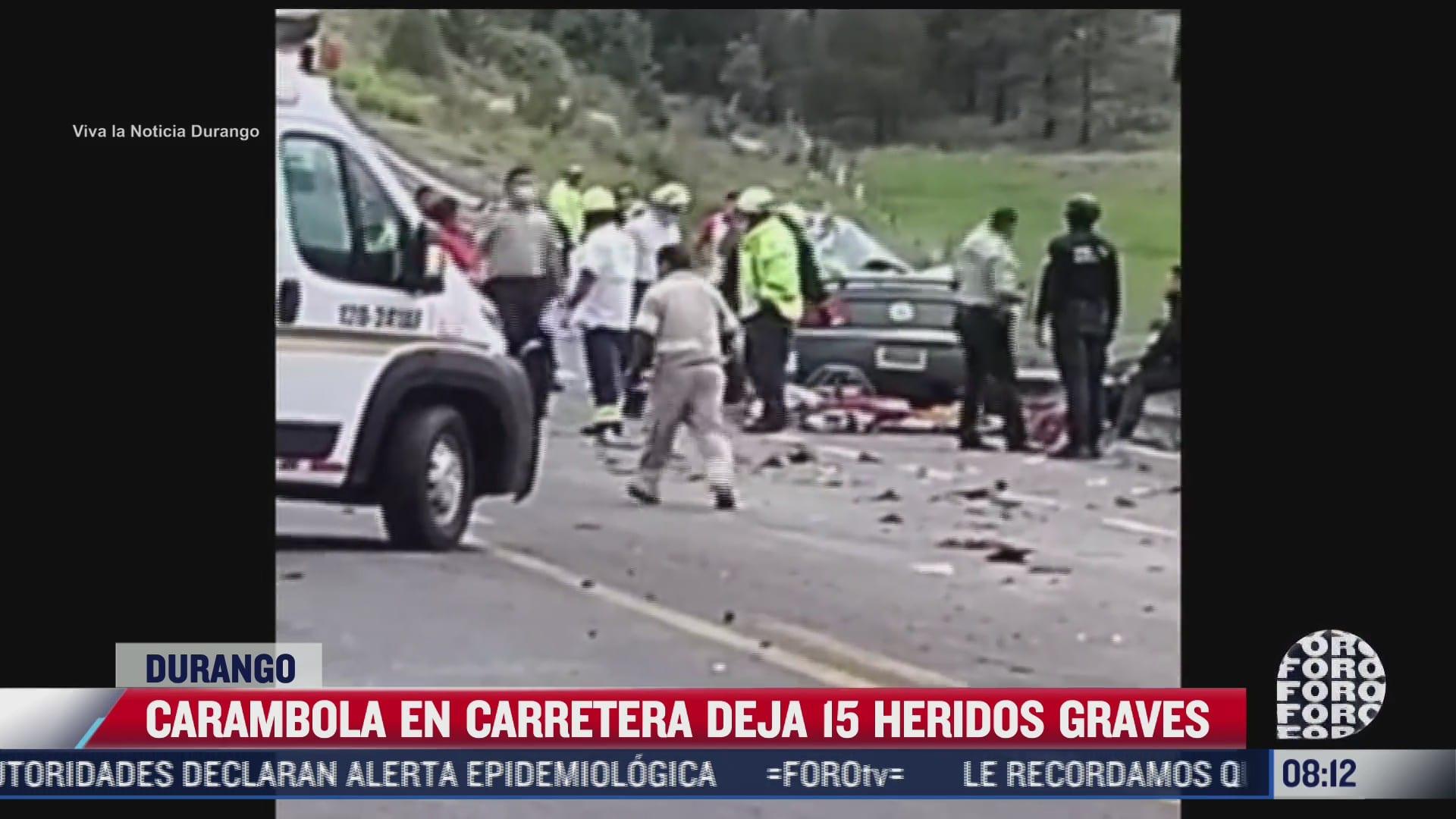 choque multiple en la super carretera mazatlan durango deja 15 lesionados