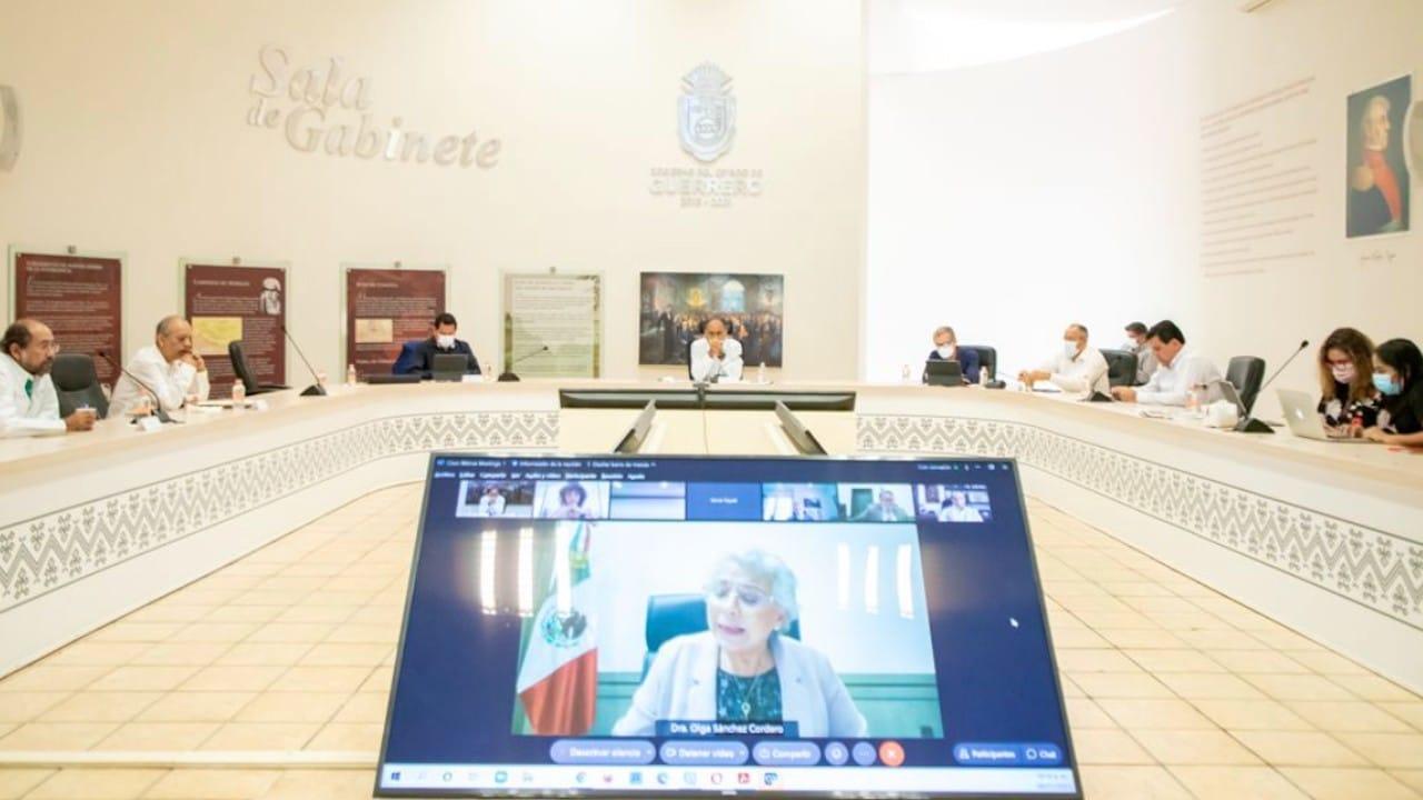 Reunión virtual de miembros de la Conagp y Segob (Twitter: @HectorAstudillo)