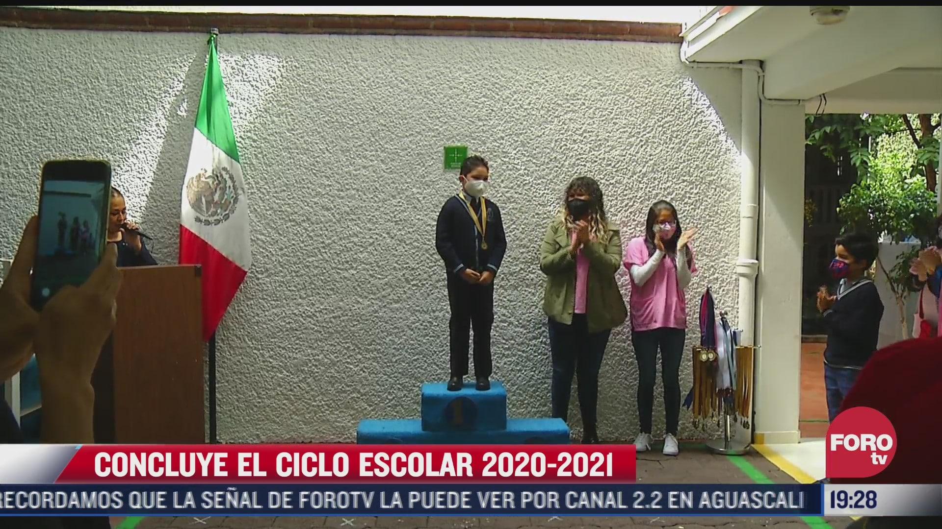 concluye ciclo escolar 2020 2021 en escuelas de educacion basica en mexico