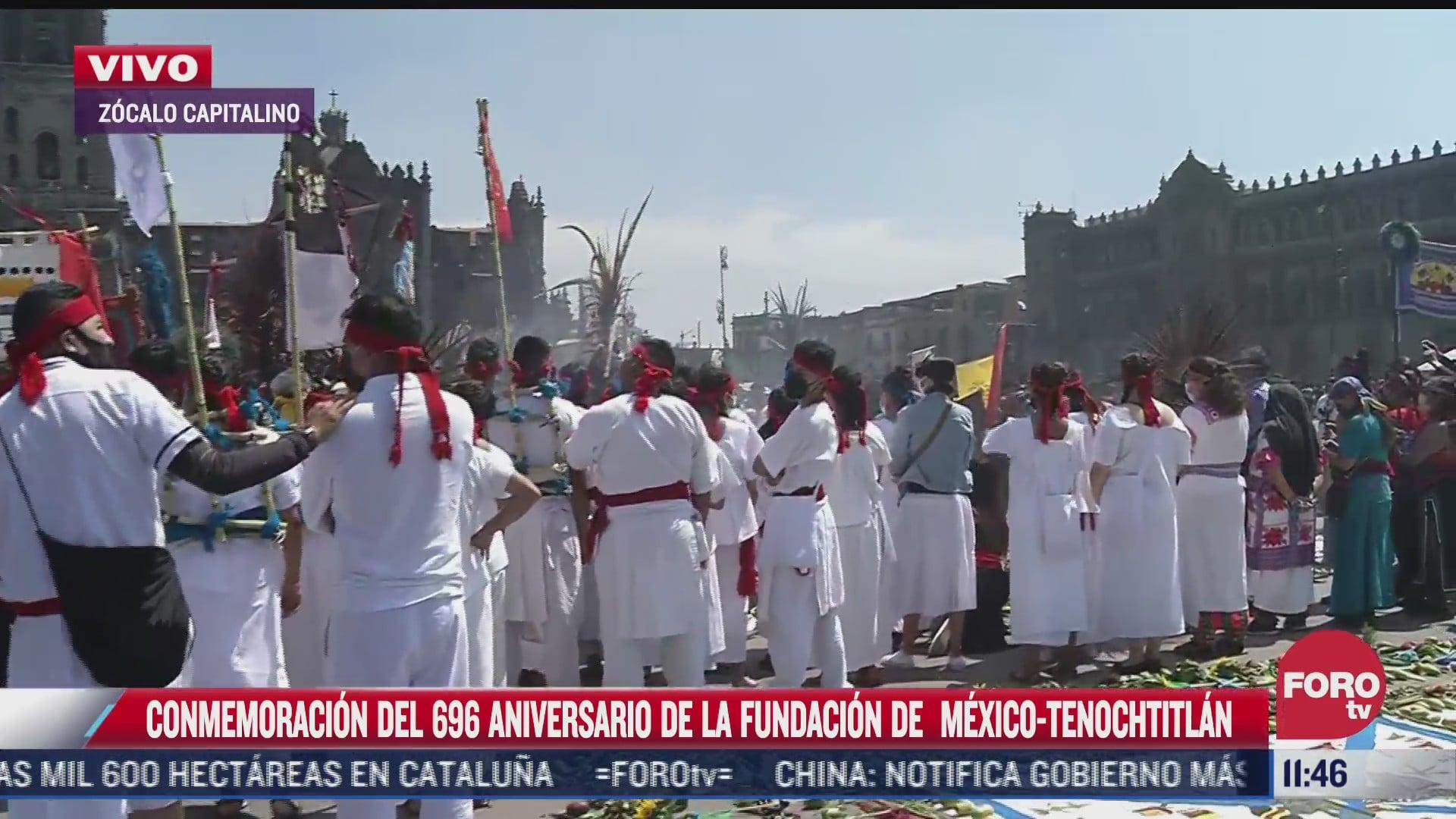 conmemoracion del 696 aniversario de la fundacion de mexico tenochtitlan