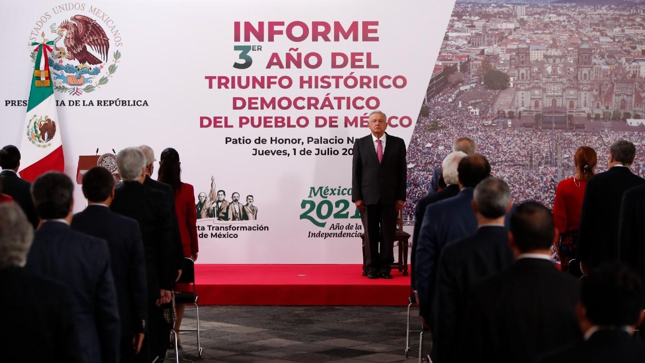 COVID-19, economía, seguridad y elecciones, los temas del informe de AMLO a tres años de su histórico triunfo electoral