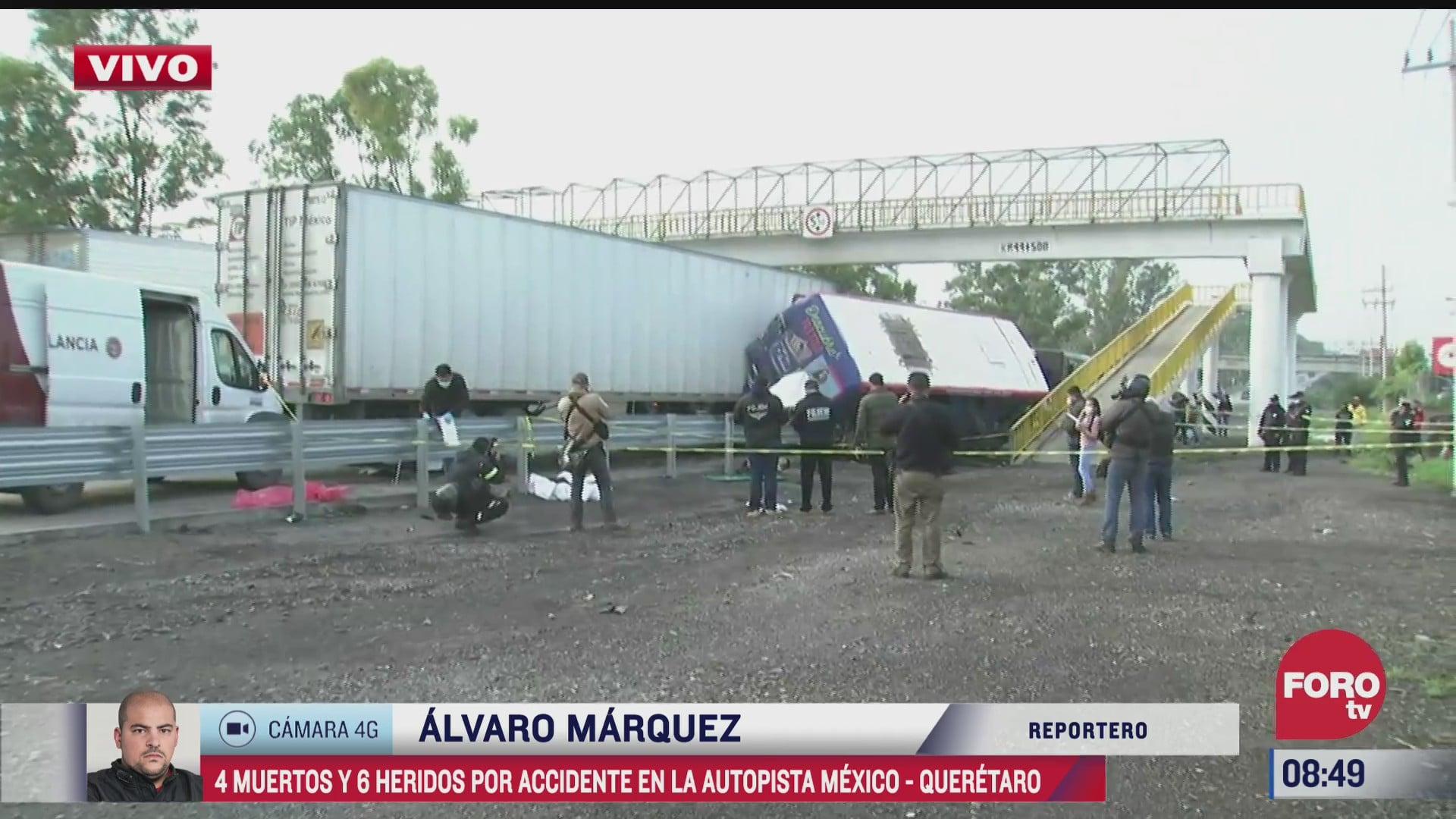 cuatro muertos en accidente en la autopista mexico queretaro