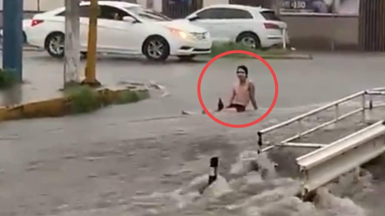 Culiacán, inundaciones, video viral, captura de pantalla