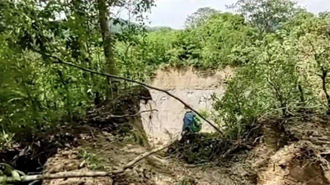 Deslave en cerro afecta 11 comunidades en Huejutla, Hidalgo