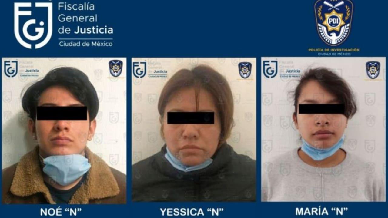 Fiscalía capitalina detiene a madre, padrastro y abuela de niña localizada muerta en Cuautepec
