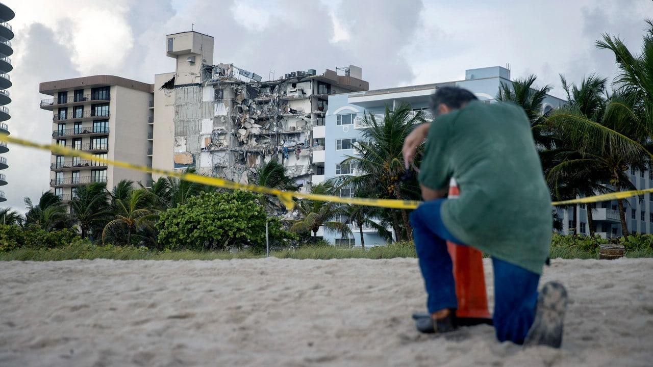 Miami, llamadas 911, edifcio derrumbado, Surfside, Florida