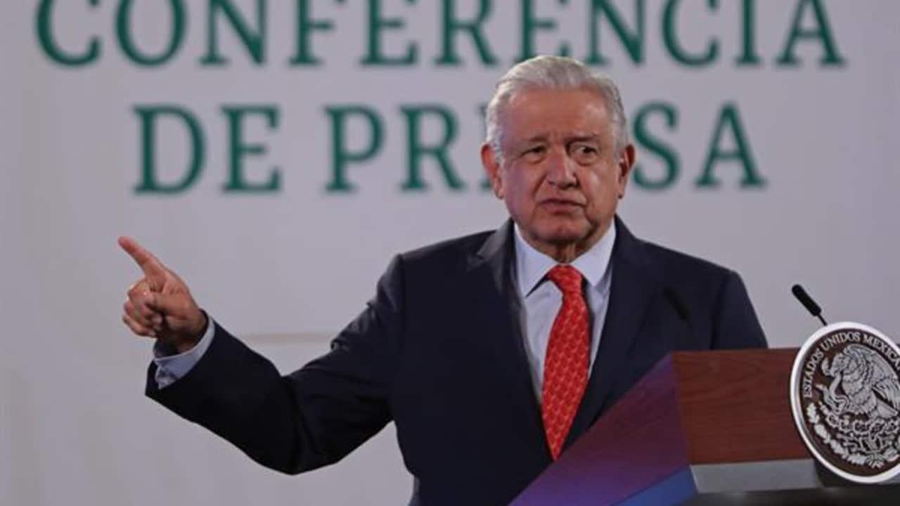 El presidente Andrés Manuel López Obrador en conferencia matutina