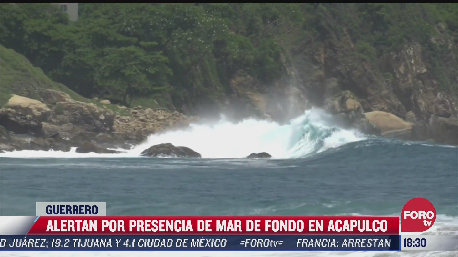 emiten alerta en acapulco por presencia de mar de fondo