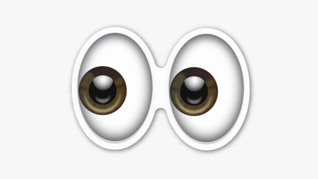Qué significa el emoji con los ojos de lado en WhatsApp