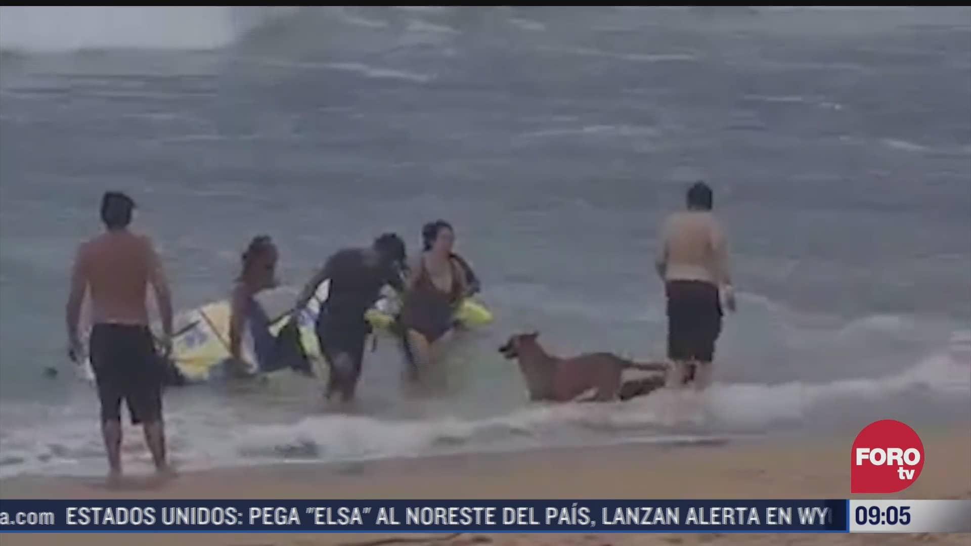 en oaxaca 8 personas han muerto por mar de fondo en este